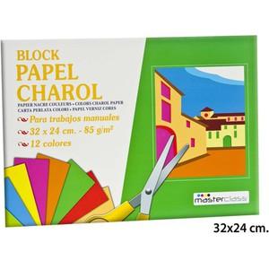 PAPEL CHAROL 85GR. 32X24CM., MASTERCLASS, 12 HOJAS