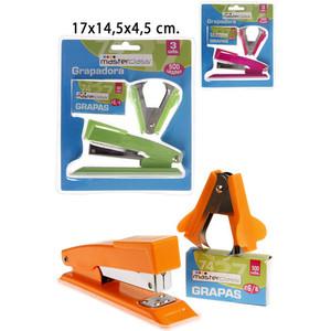 GRAPAPDORA CON QUITAGRAPAS Y GRAPAS, MASTERCLASS, 17X14,5X4,5CM.