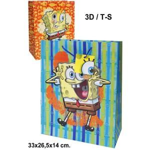 BOLSA CARTON 3D, BOB ESPONJA, S