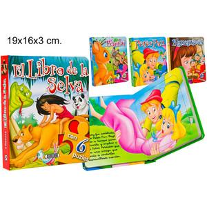 CUENTO PUZZLE 4 TITULOS MODELOS SURTIDOS, SERVILIBRO, 19X16CM.