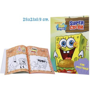 LIBRO SUPER COLOR, BOB ESPONJA