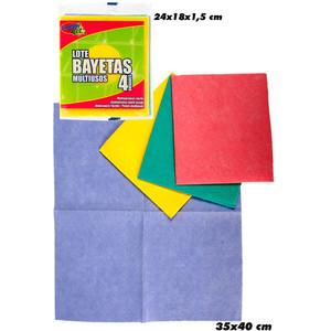 BAYETAS MULTIUSOS 3 COLORES, SUPERNET, 4UDS.