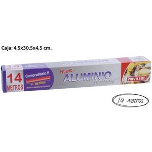 PAPEL ALUMINIO, PRIVILEGE, 14M.