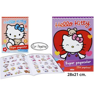 LIBRO SUPER PEGA COLOR MODELOS SURTIDOS, LIBRO DIVO, -HELLO KITTY-, 28X21CM.