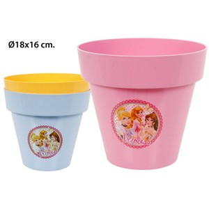 MACETA LIMITED SURTIDO COLORES, LITTLE GARDEN, -PRINCESS-, 18CM.