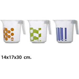 JARRA GRADUADA, USE PLASTICOS, -DEKOR-, 14X17X30CM.