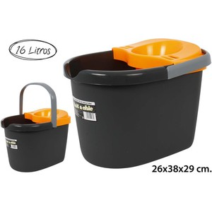 CUBO OVAL CON ESCURRIDOR ORANGE, MIK, 16L.