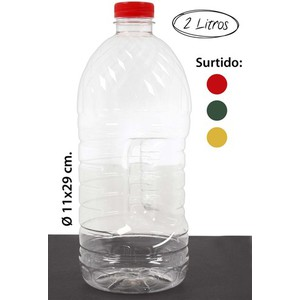 BOTELLA PET -1340 SURTIDO COLORES, WAT, 2L.