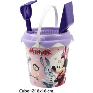 CUBO DE PLAYA, DISNEY, -MINNIE-, 3 PIEZAS