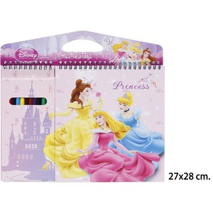 BLOCK DIBUJO CON LAPICES COLOREAR, DISNEY, -PRINCESS-