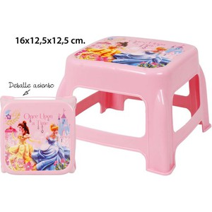 TABURETE INFANTIL METALIZADO, DISNEY, -PRINCESS-, 16X12,5X12,5CM.