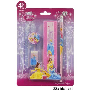 SET PAPELERIA, DISNEY, -PRINCESS-, 4UDS.