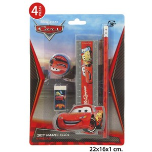 SET PAPELERIA, DISNEY, -CARS-, 4UDS.