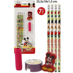 SET PAPELERIA, DISNEY, -MICKEY/MINNIE-, 7UDS.