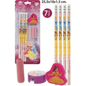 SET PAPELERIA, DISNEY, -PRINCESS-, 7UDS.