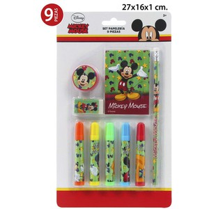 SET PAPELERIA, DISNEY, -MICKEY/MINNIE-, 9UDS.