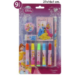 SET PAPELERIA, DISNEY, -PRINCESS-, 9UDS.