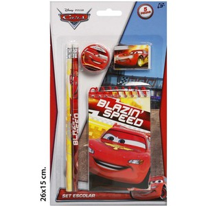 SET ESCOLAR, DISNEY, -CARS-, 5UDS.