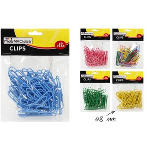 CLIPS 48MM. SURTIDO COLORES, MASTERCLASS, 60UDS.