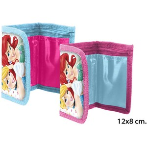 CARTERA INFANTIL PRINCESS, DISNEY, 12X8CM.