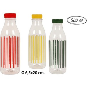 BOTELLA PET DECORADA SURITIDO COLORES, WAT, 0,5L.