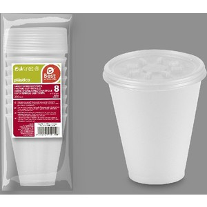 VASO TERMO CON TAPA 200CC., BEST PRODUCTS, 8UDS.