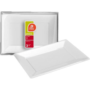 BANDEJA PLASTICO RECTANGULAR, BEST PRODUCTS, 33X22,5CM.