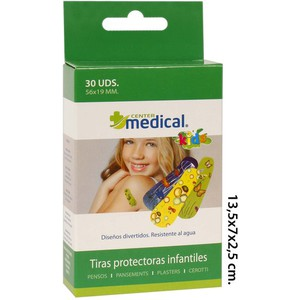 TIRAS PROTECTORAS INFANTIL SURTIDAS, MEDICAL CENTER, 30UDS.