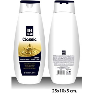GEL DE BAÑO, NATURAL CARE, -CLASSIC-, 750ML.