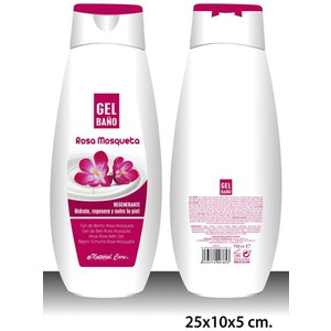 GEL DE BAÑO, NATURAL CARE, -ROSA MOSQUETA-, 750ML.