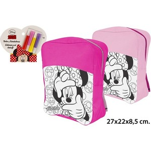 MOCHILA COLOREAR 4 ROTULADORES, DISNEY, -MINNIE-