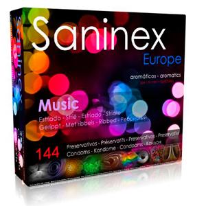 SANINEX MUSIC ESTRIADO AROMATICO FRUTAL 144 UDS