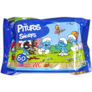 TOALLITAS WC JUNIOR 60UD PITUFOS