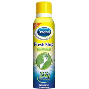 DR.SCHOLL FRESH STEP SPRAY DESODORANTE PIES EXTRA FRESH 24 HORAS 150 ML