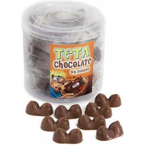 BOTE DE 50 TETAS DE CHOCOLATE CON LECHE MADE IN SPAIN