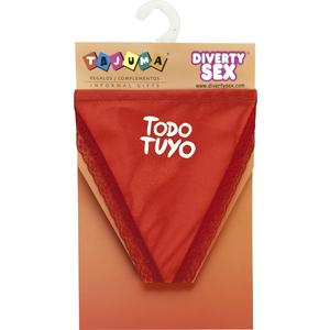TANGA ROJO CHICA TODO TUYO