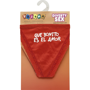 TANGA ROJO CHICA QUE BONITO ES EL AMOR