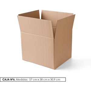 PACK 6 CAJAS DE CARTON Nº 6 (57 x 38 x 30,9)