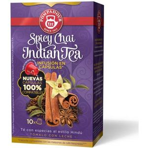 POMPADOUR - SPICY CHAI INDIAN TEA 10 CÁPSULAS