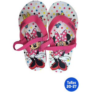 ZAPATILLAS PLAYA INFANTILES MINNIE CON GOMA