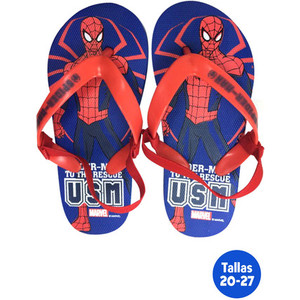 ZAPATILLAS PLAYA CON GOMA SPIDERMAN AZUL