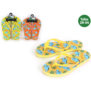 ZAPATILLAS PLAYA NIÑOS ANIMALS AMARILLO