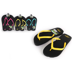 ZAPATILLAS PLAYA BASIC NEGRO NEON AMARILLO