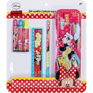 SET ESCOLAR 6 PZAS PLUMIER MINNIE