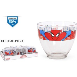 VASO VIDRIO 60cl SPIDERMAN