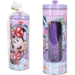 BOTE METAL 25 PAJITAS MINNIE