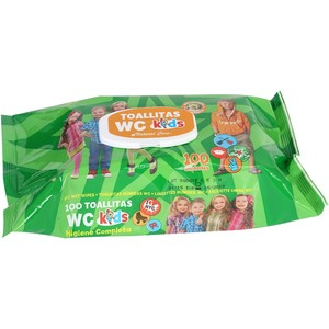 SET 100 TOALLITAS WC KIDS C/TAPA