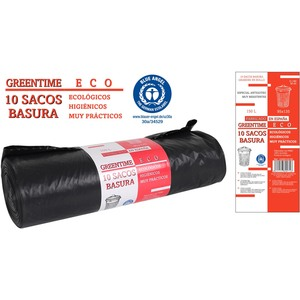 10 SACOS BASURA 95x135-G180-150 L. GREENTIME ECO