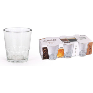 SET 6 VASOS CARAJILLO 11cl CAIRO