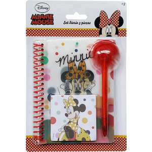 SET DIARIO INFANTIL 3PCS MINNIE